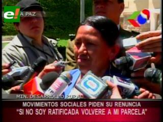 """Ministra Achacollo: """"Si no soy ratificada volveré a trabajar a mi parcela"""""""