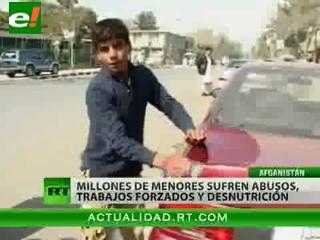La infancia perdida de los niños afganos
