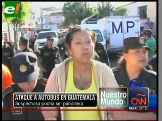 Detienen a una mujer sospechosa del atentado al autobús en Guatemala