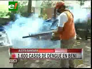 Alerta sanitaria en el Beni: 1.600 casos de dengue en el departamento