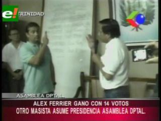 Masista Alex Ferrier es el nuevo Presidente de la Asamblea Legislativa del Beni