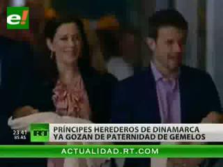 Los príncipes herederos de Dinamarca presentan a sus mellizos