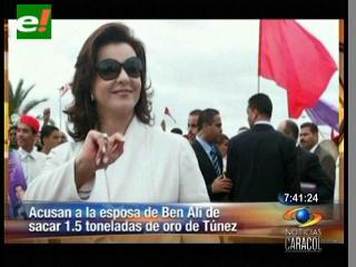 Acusan a la esposa de Ben Alí de sacar 1.5 toneladas de oro de Túnez