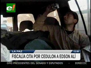 Fiscalía cita por cedulón a Edson Alí Espinoza