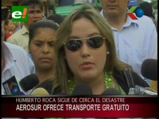 Ayuda para las víctimas del edificio Málaga, AeroSur ofrece transporte gratuito