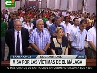 Se celebró una misa por las víctimas del Málaga