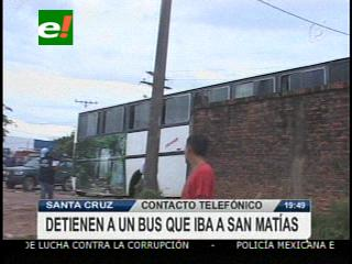 FELCN detiene un bus con cocaína que iba rumbo a San Matías