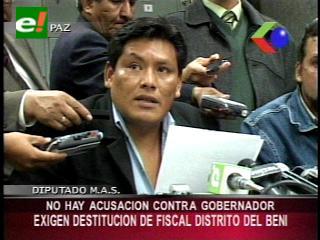 Parlamentarios del MAS piden la renuncia del Fiscal de Distrito del Beni