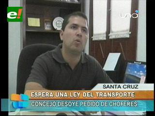 Municipio Cruceño señala que necesita una Ley del Transporte para regular las tarifas