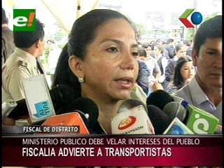 Fiscal del Distrito de Santa Cruz advierte a los transportistas