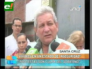 Rubén Costas responzabiliza al Gobierno por todas las protestas en el país