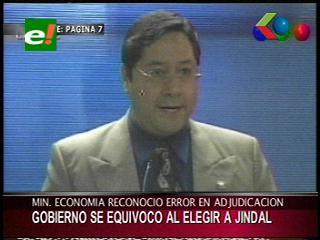 Luis Arce reconoce que el Gobierno se equivocó al elegir a la empresa Jindal