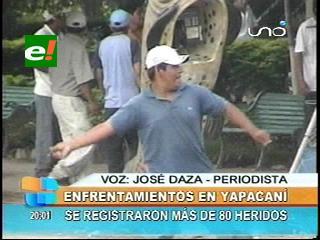 Enfrentamientos entre masistas por la Alcaldía de Yapacaní deja más de 80 heridos