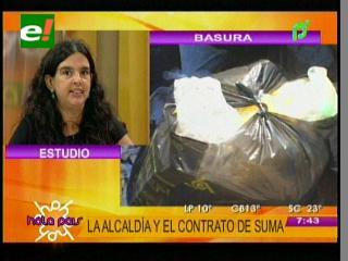 """Gabriela Ichazo: """"Si el Alcalde rescinde el contrato con SUMA, la ciudad se pone peor"""""""
