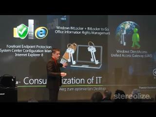 Microsoft presentó una gigantesca pantalla táctil