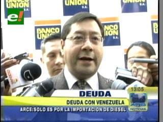 """Ministro de Hacienda: """"Bolivia solo le debe a Venezuela por la importación de diesel"""""""
