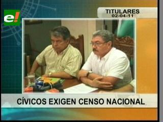 Cívicos de seis regiones del país exigen censo nacional al Gobierno
