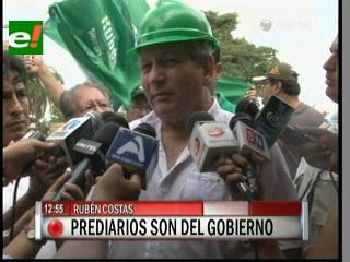 """Rubén Costas: """"Los prediarios son competencia del Gobierno"""""""