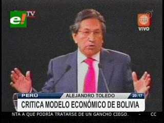 Alejandro Toledo criticó el modelo económico de Bolivia