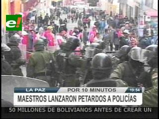 La Paz: Mineros responden con dinamita a los gases lacrimógenos de la policía