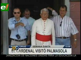 Cardenal Julio Terrazas visita el penal de Palmasola