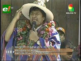 """Evo: """"El Imperio Inglés y sus gobiernos decidieron acabar con los indígenas quechuas y aymaras"""""""""""