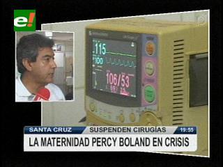 Santa Cruz: Maternidad suspende cirugías, adeudan 40 mil Bs. por equipos de quirófano