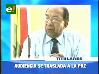 Audiencia conclusiva del caso terrorismo se traslada a La Paz