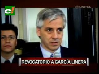 Revocatorio a García Linera