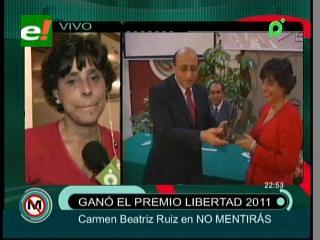 Periodista Carmen Ruiz recibió el premio Libertad 2011
