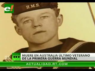 Fallece en Australia el último veterano de la Primera Guerra Mundial