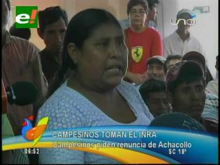 Campesinos toman las instalaciones del INRA en Santa Cruz