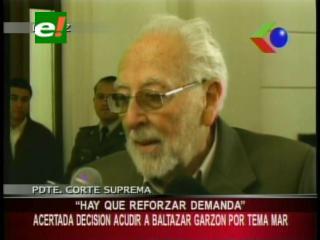 Presidente de la CSJ apoya que Baltazar Garzón sea parte de una estrategia marítima