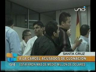 Clonadores de tarjetas fueron enviados a la cárcel de Palmasola