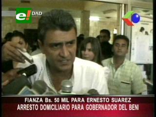 Ordenan arresto domiciliario y arraigo contra el Gobernador del Beni Ernesto Suárez