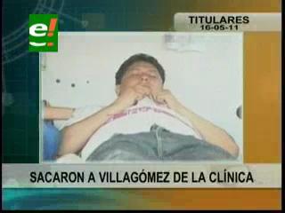 Policías sacan de manera sorpresiva a Alcides Villagómez de la clínica