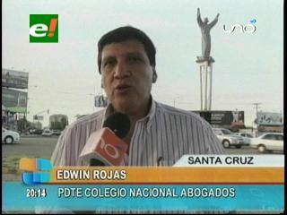 Edwin Rojas: «Hay desmotivación en los abogados para participar de las elecciones judiciales»