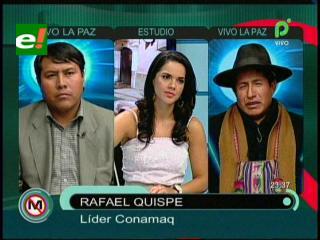 Rafael Quispe: «CONAMAQ no será cómplice de una elección judicial anticonstitucional»