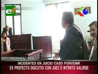 Incidentes en el juicio a Leopoldo Fernández, ex prefecto discutió con el juez