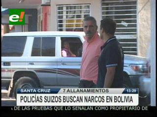 Policías suizos buscan narcotraficantes en Bolivia