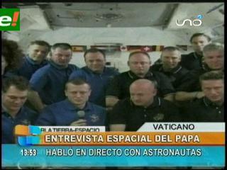 Papa Benedicto XVI conversó con astronautas de la Estación Espacial Internacional