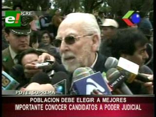 Presidente de la CSJ: «Es importante que la población conozca a los candidatos al Poder Judicial»