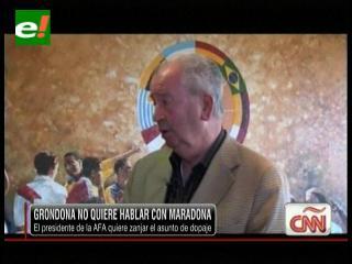 Julio Grondona no quiere hablar más de Maradona