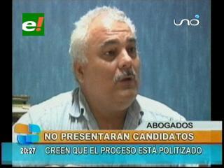 Colegio de Abogados de Santa Cruz no presentará candidatos a las elecciones judiciales