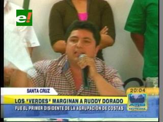 """Los """"VERDES"""" marginan a Ruddy Dorado, es el primer disidente de la agrupación de Costas"""
