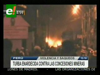 Violencia en Perú: Protesta en Puno con saqueos, destrucción y toma de rehenes