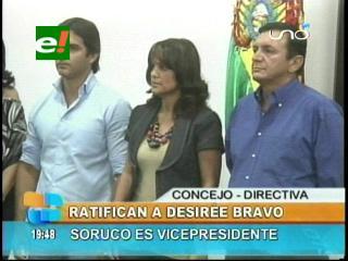 Ratifican a Desirée Bravo como Presidenta del Concejo Municipal de Santa Cruz