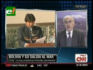 """Carlos Mesa: """"La reivindicación marítima no es todo el territorio perdido, queremos un acceso específico"""""""