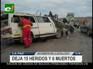 La Paz: Accidente de tránsito deja 6 muertos y 15 heridos en Lloco Lloco