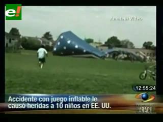 Accidente con juego inflable causó heridas a 10 niños en EEUU
